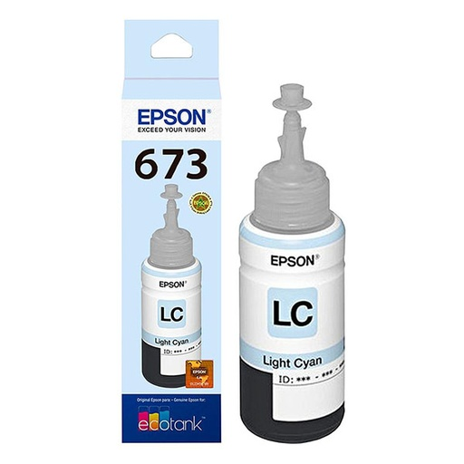 [1253] Refil de Tinta T673 - 520 Color  Light Cian - Epson L800
